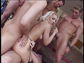 Stunning blonde Olivia Saint gets double penetrated and hard anal fucking