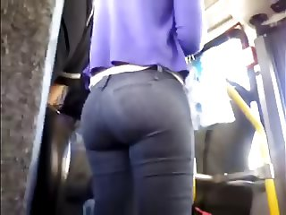 While sitting on the bus and enjoy