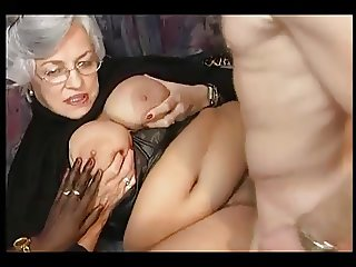 German Grandma In An Orgy