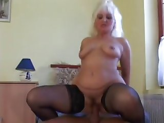 mature blond fucks with young neighbor