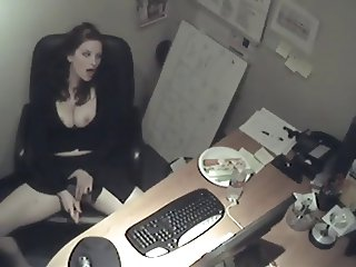 Lonely Secretary Fucks Herself With Carrot