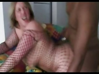 Brithish MILF Anabel Moon in Fishnet Bodysuit Takin BBC