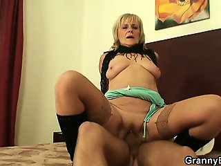 Stud picks up and fucks an old prostitute