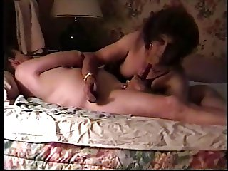 Crossdresser Blow job with tit torment