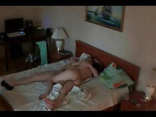 Asian kazakh girl & Russian guy amateur homemade