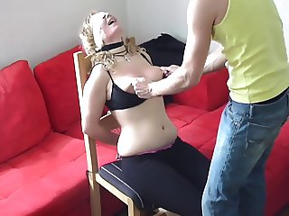 Painslut's Brutal Tits and Face Slap