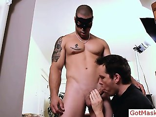 Tatooed muscle steamy god getting part1