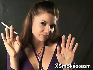 Horny Gal Smoking Wild Makeout