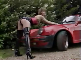 vintage hooker in car