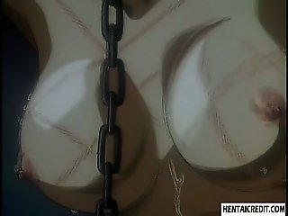 Hentai blondie in chains gets brutally penetrated