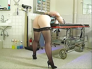 Hottie with a nice booty bent over for her masters spanking