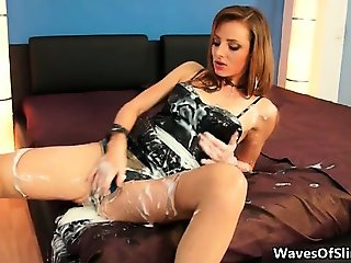 Sexy brunette babe from Slimewave goes part4
