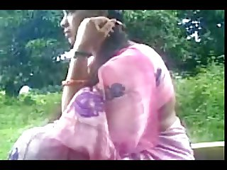 Daring Desi Aunty Sucks Uncles Cock Outside in the Park
