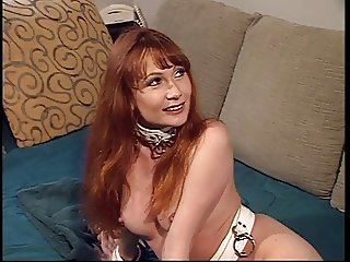 Bound amateur red head has her ass used by master