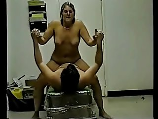 Horny Fat Chubby riding her BF on Cam-The BBW GF