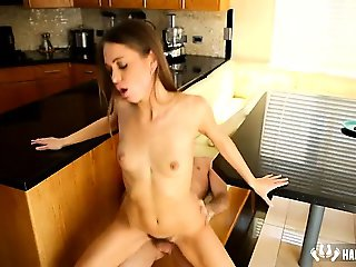 Doggy on Kitchen Table Riley Reid