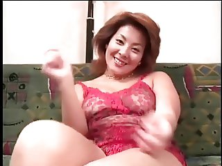 Pretty Busty Japanese MILF's Cunt Fucked
