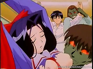 Busty Hentai Cuties Gangbanged By Men And Monsters