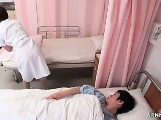 Cute Japanese nurse gets groped part5