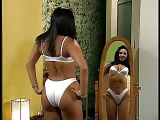 mainstream latina cougar actress satin bra panty