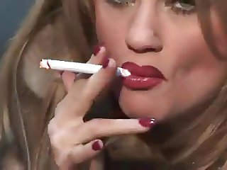 Milf In Fur Smoking & Teasing