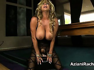 Busty blonde milf gets horny riding part1