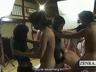 Subtitle crazy Japanese AV survival of the fittest orgy