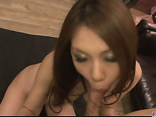 Stunning and pretty redhead giving foot job and screwed