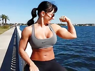 Erica Cordie: Sexy FBB Outdoor Muscle Flexing - Ameman