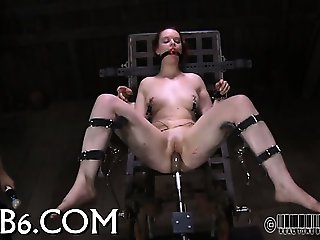 Painful facial torture for babe