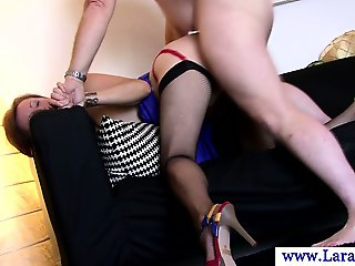 Glamorous british MILF being pussy fucked