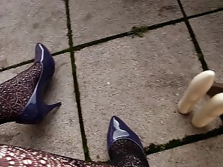 New violet Pumps Shoes from a Guest