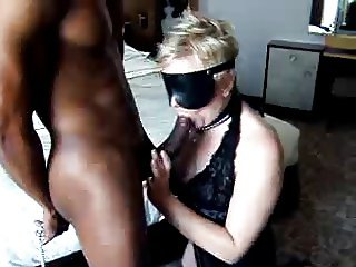 Submissive white whore with BBC