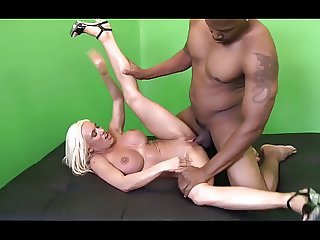 big clit blonde milf rides a black cock
