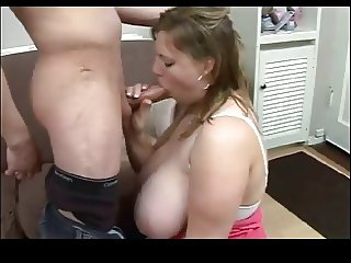 Very Busty Teen Sucking Cock BVR