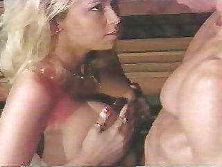 Peter and Jenna titfuck and huge cumshot
