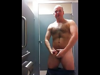 Bear wank on toilet