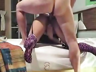 Latina Anal With Purple socks -   xturkadult com