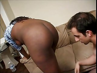 Pregnant Black Girl Fucked And Facialed By White Guy