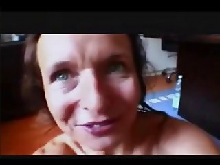 German Mature Mom sucking Cock