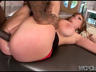 Hot gilf gets banged by a huge black cock