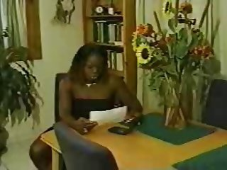 Black shemale boss fucks her male employee