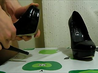 K's patent black heels - part 2