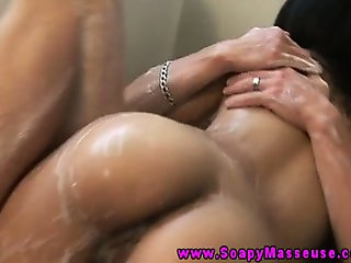 Asian massage babe gets fucked
