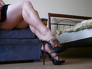 Showing of sexy legs and feet