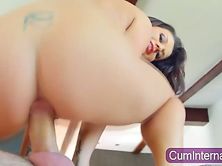 Whore gets anal creampie