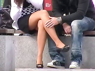 sitting legs and heels