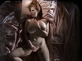 Big tits wife with red head masturbation to orgasm