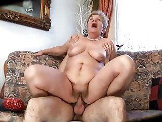 Ugly mom with flabby body & tits & guy