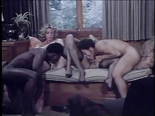 2 girls, 2 guys (Interracial Vintage Foursome Sex!)